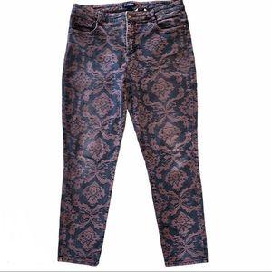 Bandolino Damask Skinny AMY Jeans 16